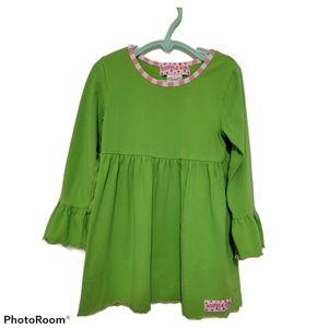 Ruffle Girl Green Ruffle Sleeve Dress Sz 5